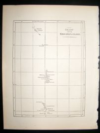 Japan Perry Expedition 1856 Antique Map. Bonin Islands